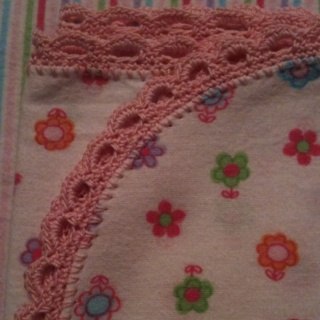 RECEIVING BLANKET CROCHET EDGING PATTERN Crochet ...
