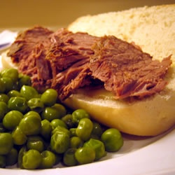 Easy Slow Cooker French Dip Allrecipes.com. Family Favorite. Top with ...