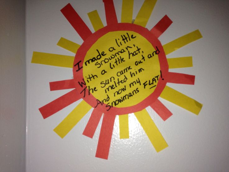 Melted snowman poem | Bulletin Boards, Preschool room | Pinterest