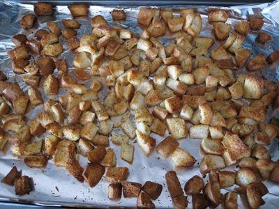 Homemade croutons!