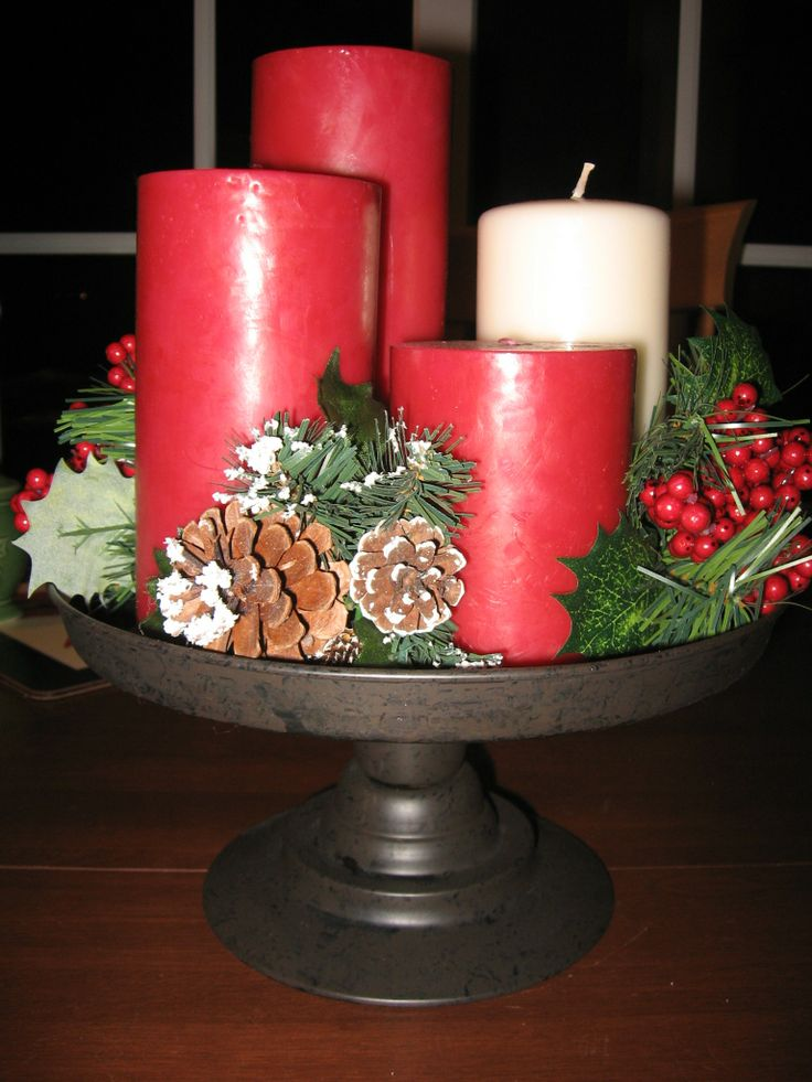 Advent centerpiece candles | Christmas - the reason | Pinterest