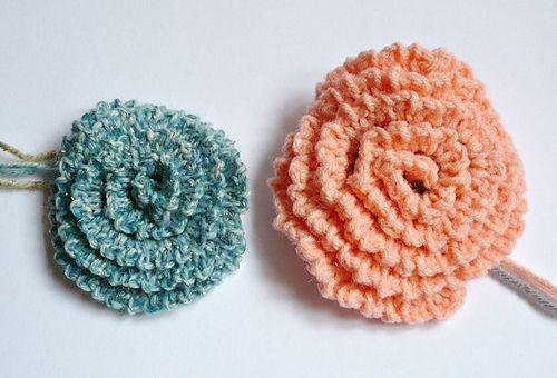 Crochet Simple Flower - Tutorial Crochet Pinterest