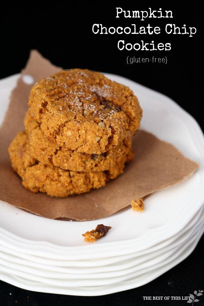 Ooey Gooey Gluten-Free Pumpkin Chocolate Chip Cookies #glutenfree # ...