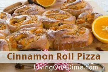 Cinnamon roll pizza | Foods | Pinterest