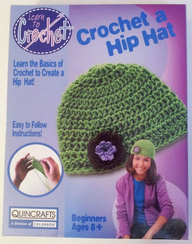 Crochet Kits For Beginners : Quincrafts Hip Hat Crocheting Kit Beginner Learn to Crochet Craft Kids ...