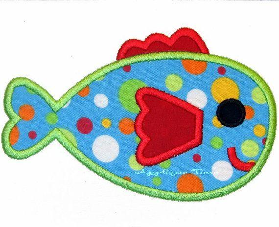 fish machine applique design