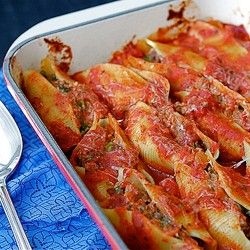 Baked Pasta Shells with Beef, Sundried Tomatoes & Spinach Recipe ...