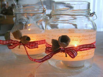 vasetti-lanterne natalizi  da borsettefatteamano.blogspot.it