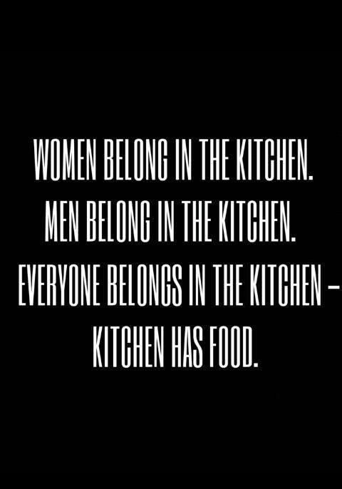 Kitchen has food.