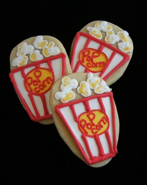 popcorn box | Cookie Decorating | Pinterest