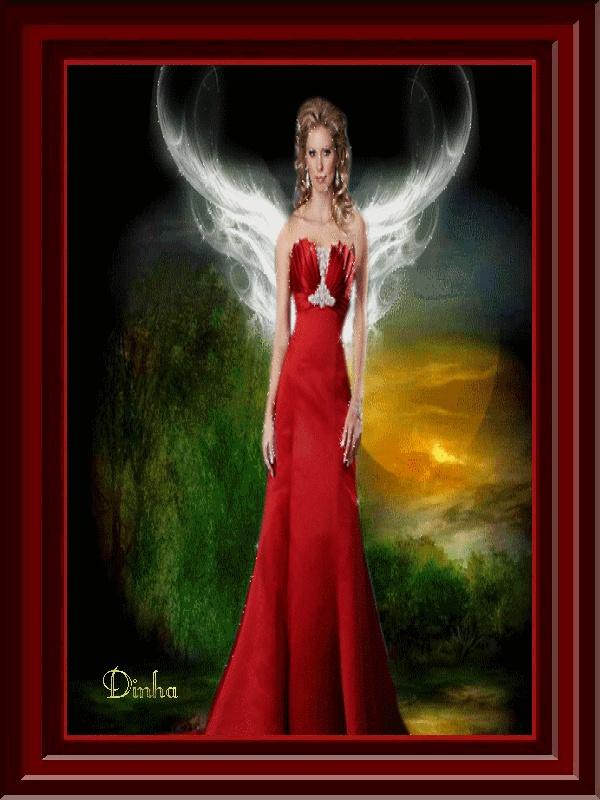 Angel in red dress | Rapsody in Red