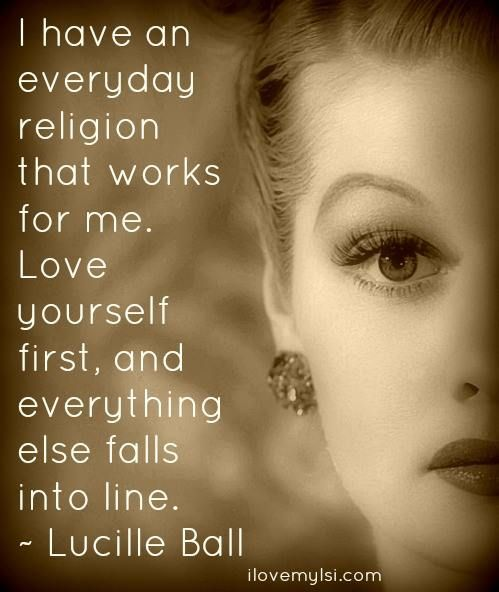 Religion, by Lucille Ball