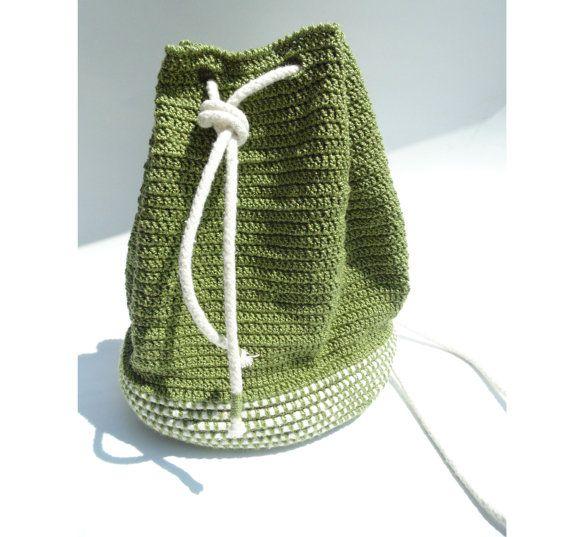 Crochet Rope Basket : ... Cotton Rope Bag - CROCHET PATTERNS ONLY - basket or gift b