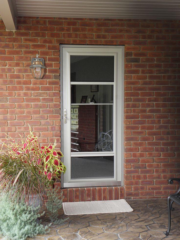 Provia spectrum storm door wheaton doors door for Entry door with storm door