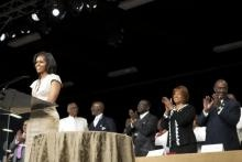 Wait... what?? Michelle Obama: There is 'No Place Better' Than Church to Talk About Political Issues