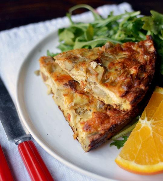 make ahead recipe sausage artichoke amp goat cheese egg bake and a ...