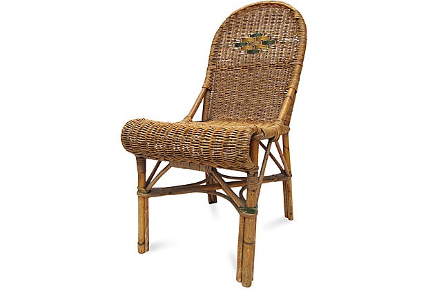 French wicker bistro chair vintage cane rattan pinterest