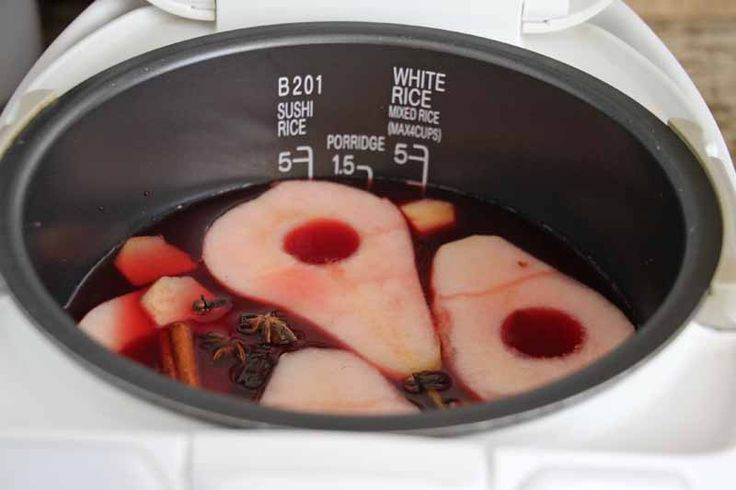 Poached Pomegranate Spiced Pears In A Rice Cooker Recipe - Jeanette's ...