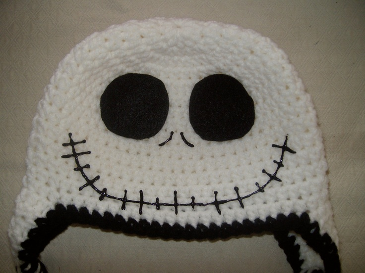 Crochet Jack Skellington : Jack Skellington Nightmare Before Christmas Crocheted Hat. $15.00, via ...