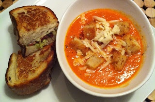 Tom's Tasty Tomato Soup with Brown Butter Croutons - #jennarationbaked ...