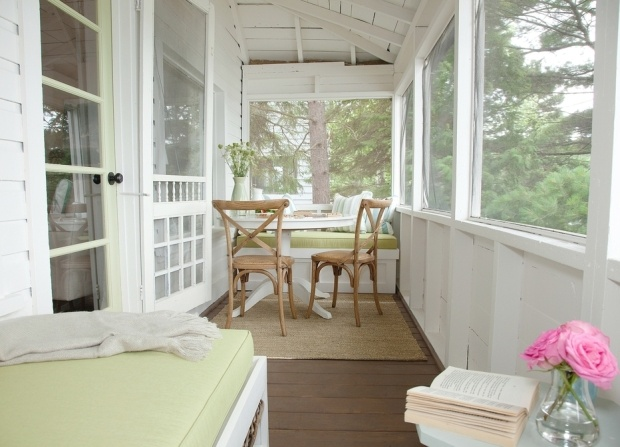 white screened in porch (small space)
