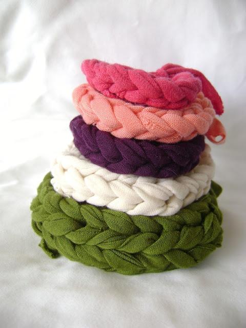 Crochet Braids Elizabeth Nj : DIY: Jersey Knit Bracelets crafty. Pinterest
