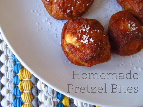 Homemade Soft Pretzel Bites | Happy Food Happy Home | Pinterest