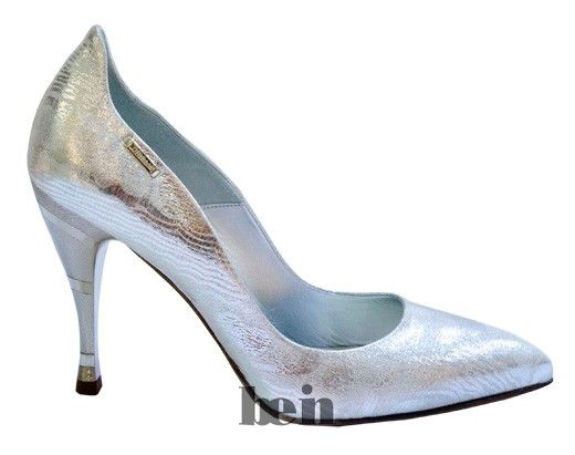 Women evening shoes silver