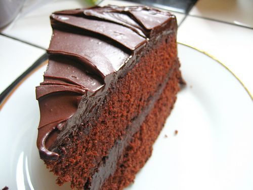 Devils Food with Midnight Ganache | So this IS a cake | Pinterest