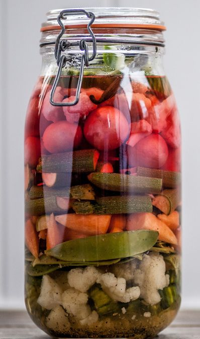 dividends as the vegetables need to sit in the pickling liquid ...