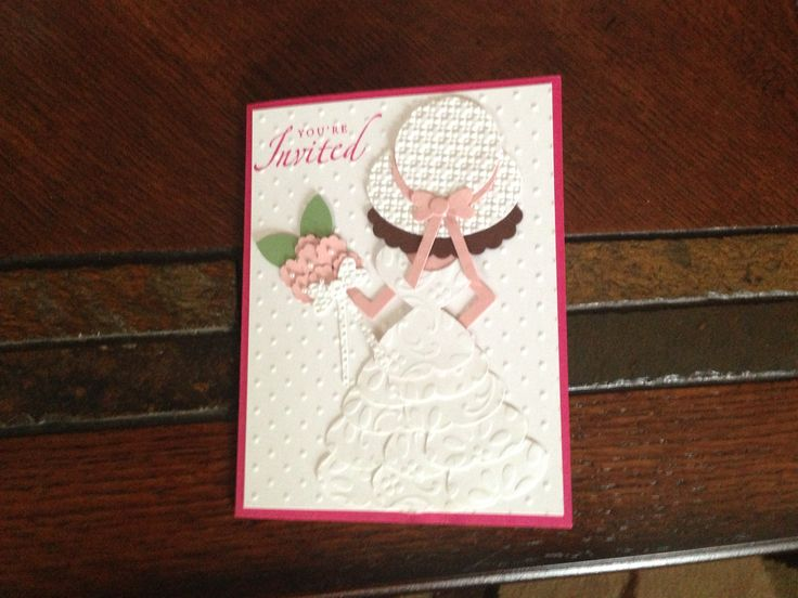 Homemade bridal shower invitations from stampin up