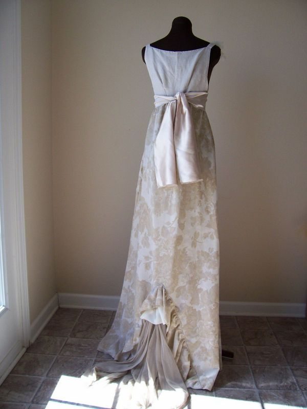 Linen Wedding Dress Mrs Darcy Cotton Empire Ballgown French Country J