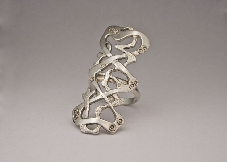 armor ring handcrafted sterling silver