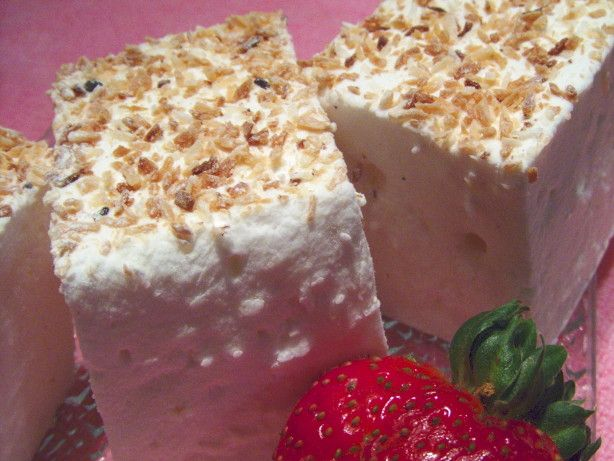 Toasted Coconut Marshmallow Squares