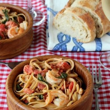 Pasta With Shrimp | Fish and Seafood | Pinterest