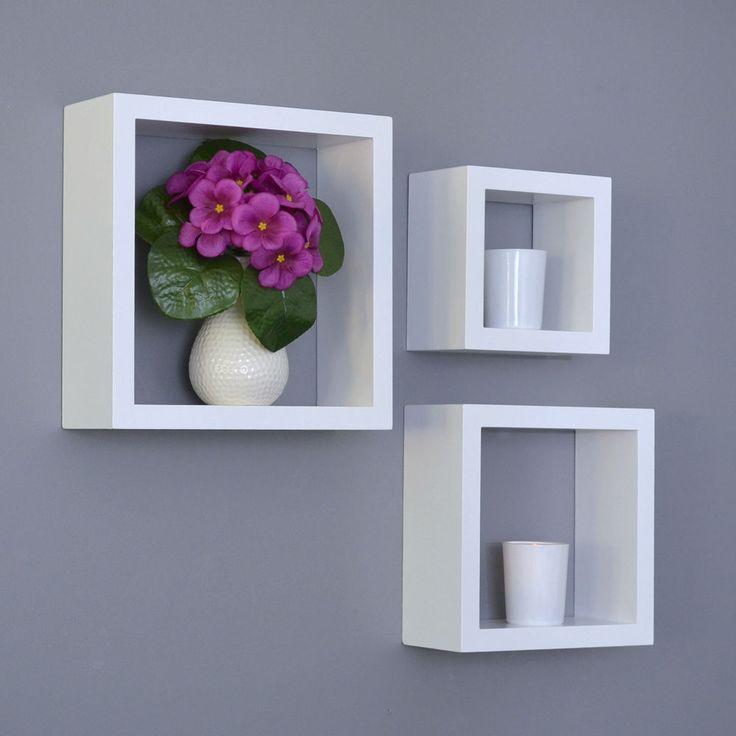 mensole design ikea : Set Da 3 Mensole Cubo Design Libreria CD Mensola Da Parete Opaco ...