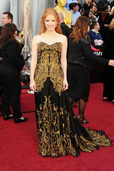 Jessica Chastain in Sarah Burton for Alexander McQueen