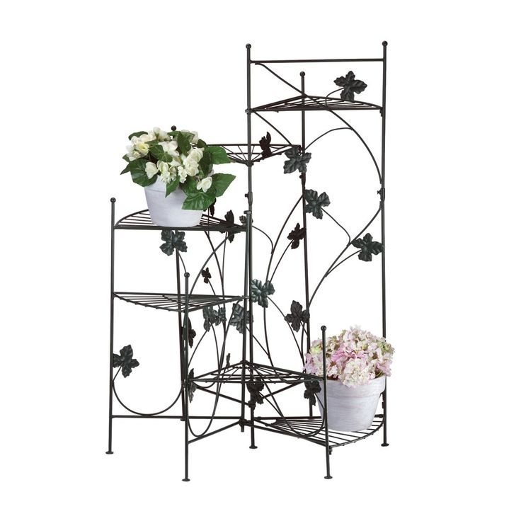 Tiered plant stand - Tiered metal plant stand ...