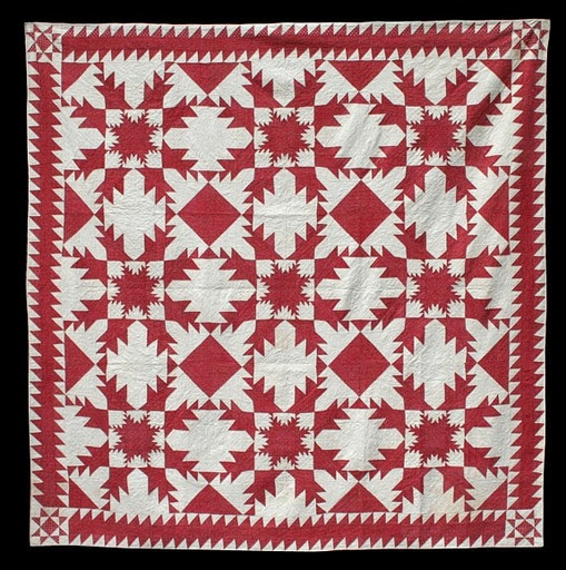 antique 2-color quilt