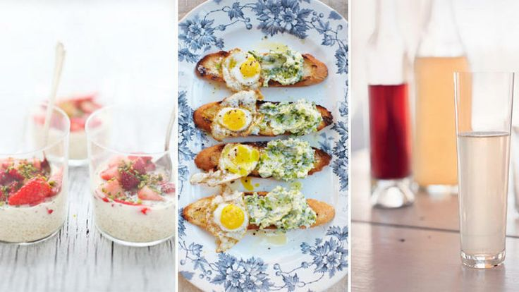 Mother's Day Brunch: Toasts with Ramps Butter and Fried Quail Eggs