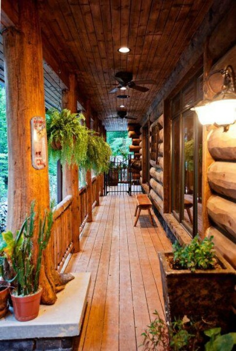 Rustic Porch For The Home Pinterest