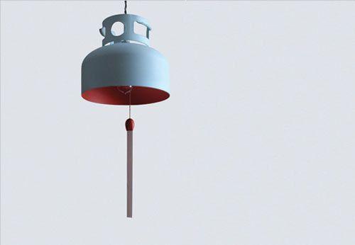 BBQ Propane tank lamp by La Firme