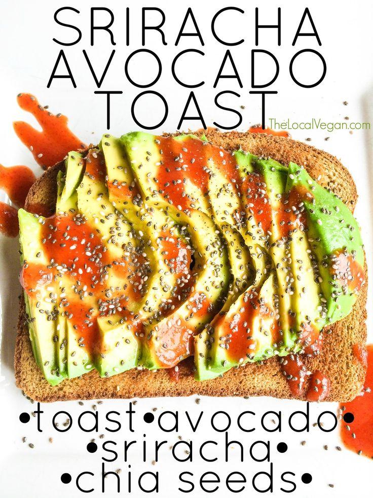 Sriracha Avocado Toast | Yummy Things | Pinterest