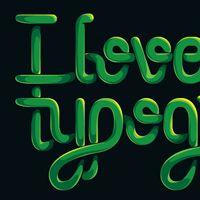 Entangled lettering illustration tutorial