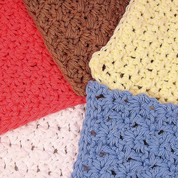 Crochet Stitches Washcloths : Five Crochet Washcloth Patterns