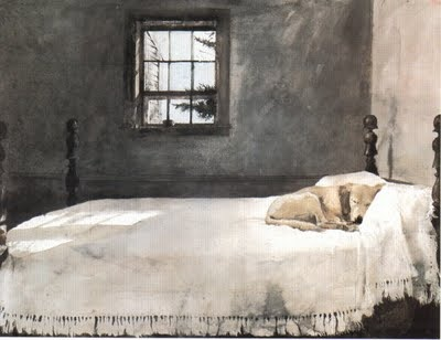 Master Bedroom By Andrew Wyeth Yellow Lab Bed His Master 39 S Bed Art