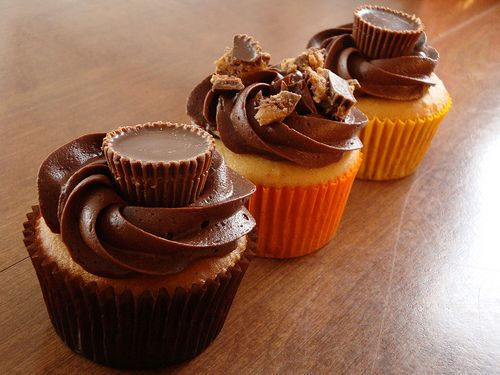 Inside Out Reese's Peanut Butter Cup Cupcakes