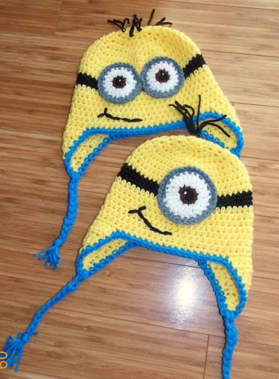 Despicable Me Crochet Minion Hat Child 4-10 Years