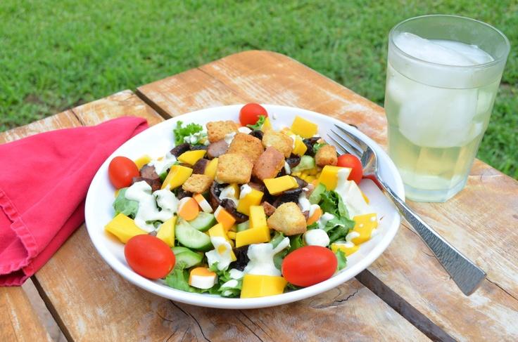 Portobello Mango Salad with Jalapeño Cilantro Ranch Dressing | Recipe