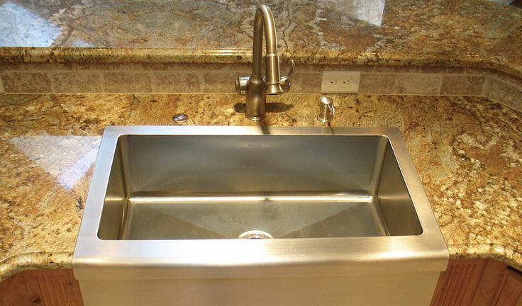 Mounting A Farmhouse Sink : Under mount kitchen sink farmhouse style House projects Pinterest